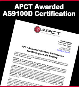 APCT Awarded AS9100D Certification